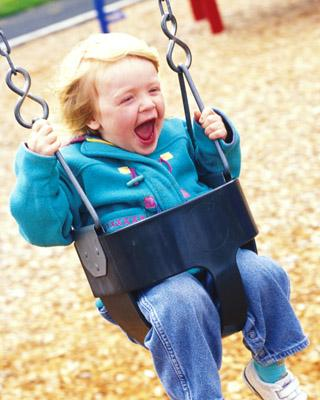 child-on-swing